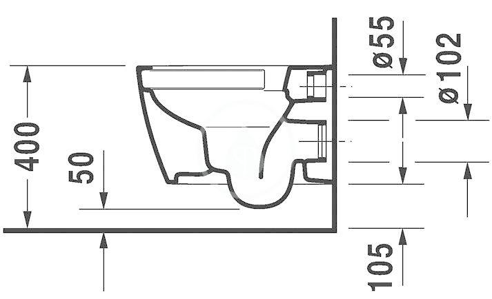 DURAVIT - ME by Starck Závěsné WC Compact, Rimless, s HygieneGlaze, alpská bílá (2530092000)