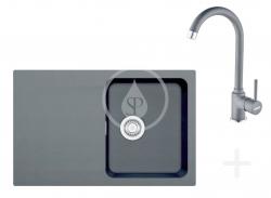 FRANKE - Sety Kuchyňský set T30, tectonitový dřez OID 611-78, černá + baterie FP 9000.099, grafit (114.0366.039)