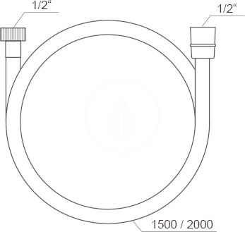 RAVAK - Sprchy Sprchová hadice SatinFlex 913.00, délka 1500 mm, satin (X07P176)