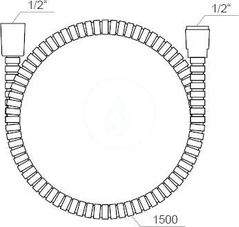 RAVAK - Sprchy Sprchová hadice 912.50, délka 1500 mm (X07P065)