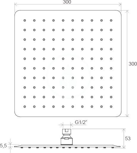 RAVAK - Chrome Hlavová sprcha 982.00, 300 mm, chrom (X07P016)