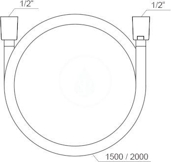 RAVAK - Sprchy Sprchová hadice SilverShine 914.00, délka 1500 mm (X07P338)