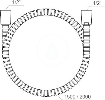 RAVAK - Sprchy Sprchová hadice 915.00, délka 1500 mm, kov (X07P340)