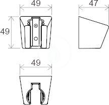 RAVAK - Sprchy Držák sprchy 612.00, plast, chrom (X07P345)