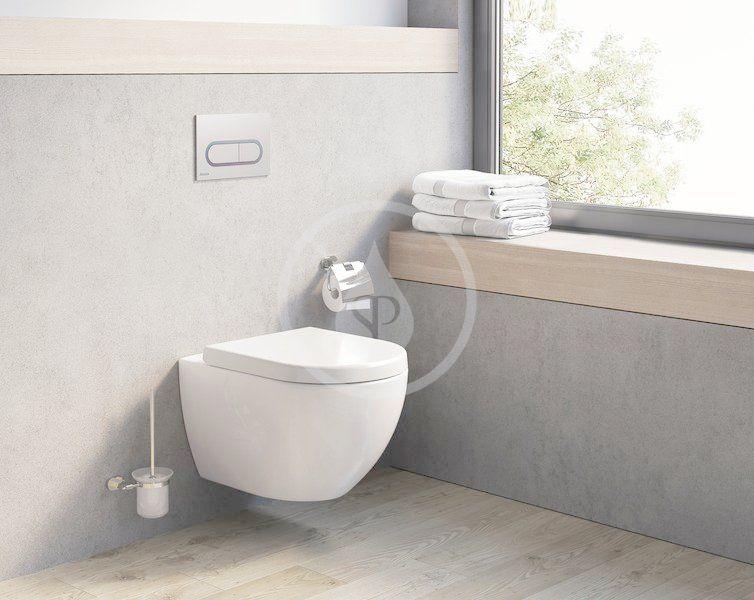RAVAK - Chrome Závěsné WC Uni Rim, bílá (X01516)