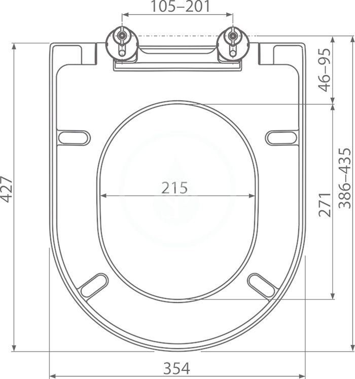 RAVAK - Chrome WC sedátko Uni, se sklápěním SoftClose, bílá (X01549)