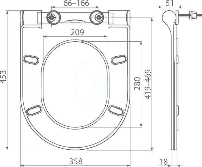 RAVAK - Chrome WC sedátko Uni Slim, se sklápěním SoftClose, bílá (X01550)