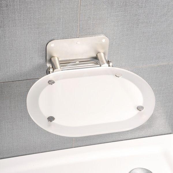 RAVAK - Ovo Chrome Sprchové sedátko 410x375 mm, nerez/bílá (B8F0000029)