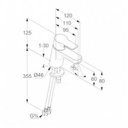 KLUDI - Pure&Easy Umyvadlová baterie, chrom (373870565), fotografie 2/1