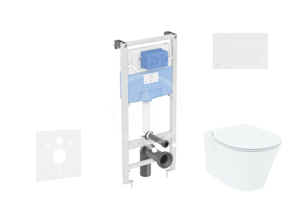 IDEAL STANDARD ProSys Set předstěnové instalace, klozetu a sedátka Connect Air, tlačítka Oleas M2, Aquablade, SoftClose, bílá ProSys120M SP19
