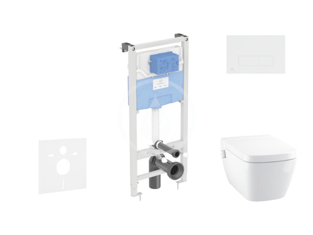 IDEAL STANDARD ProSys Set předstěnové instalace, sprchovací toalety a sedátka TECEone, tlačítka Olea