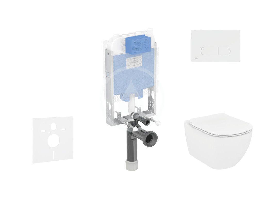 IDEAL STANDARD ProSys Set předstěnové instalace, klozetu a sedátka Tesi, tlačítka Oleas M1, bílá ProSys80M SP88