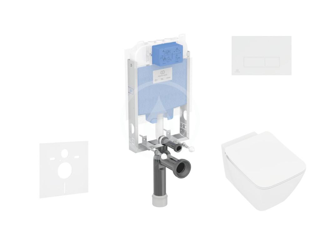 IDEAL STANDARD ProSys Set předstěnové instalace, klozetu a sedátka Strada II, tlačítka Oleas M2, Aquablade, SoftClose, bílá ProSys80M SP97