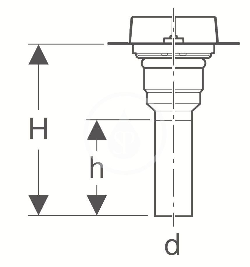 GEBERIT - CleanLine Souprava pro hrubou montáž pro sprchové kanálky CleanLine, instalace přes podlahu (154.153.00.1)