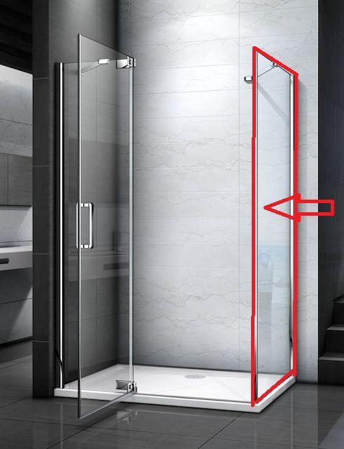 H K TIFANY F1 80 pevná boční stěna do kombinace s dveřmi, 78-80 x 200 cm SE-TIFANYF180