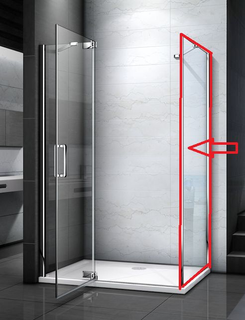 H K TIFANY F1 90 pevná boční stěna do kombinace s dveřmi, 88-90 x 200 cm SE-TIFANYF190