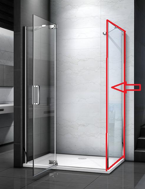 H K TIFANY F1 100 pevná boční stěna do kombinace s dveřmi, 98-100 x 200 cm SE-TIFANYF1100