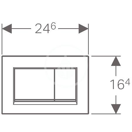 GEBERIT - Sigma30 Ovládací tlačítko Sigma30, černá/chrom (115.883.KM.1)
