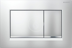 Sigma30 Ovládací tlačítko Sigma30, chrom mat/chrom (115.883.KN.1) - GEBERIT