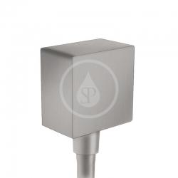 HANSGROHE - Fixfit Přípojka hadice Square se zpětným ventilem, kartáčovaný černý chrom (26455340)