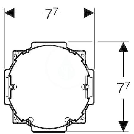 GEBERIT - Sigma80 Síťový zdroj pro soupravu Sigma 80 (115.861.00.1)