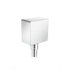 HANSGROHE - Fixfit Přípojka hadice Square se zpětným ventilem, chrom (26455000)