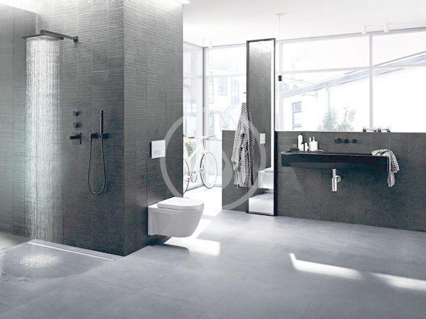 GEBERIT - CleanLine Nerezový sprchový kanálek, 300-900 mm, tmavý kov (154.456.00.1)