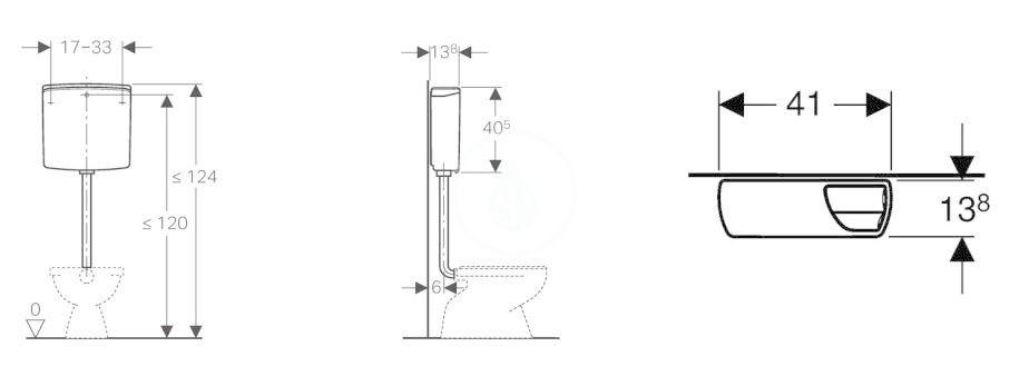 GEBERIT - Příslušenství Splachovací nádržka AP140, alpská bílá (140.305.11.1)