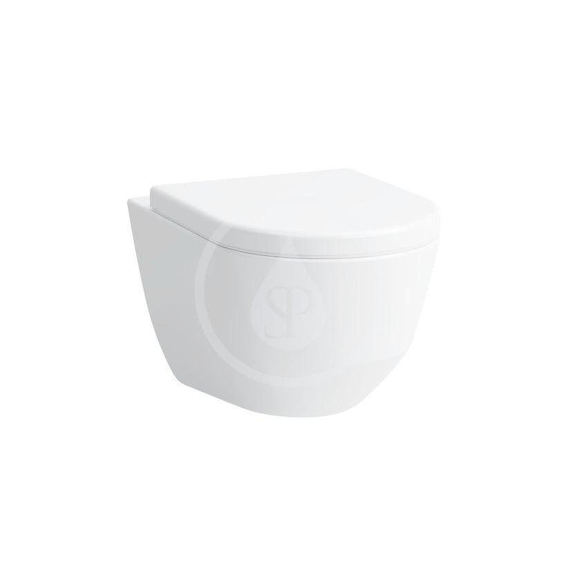 Laufen Pro Závěsné WC Compact, 490x360 mm, rimless, bílá H8209650000001