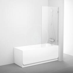 RAVAK - Brilliant Vanová zástěna jednodílná BVS1-80, 800x1500 mm, chrom/čiré sklo (7U840A00Z1)