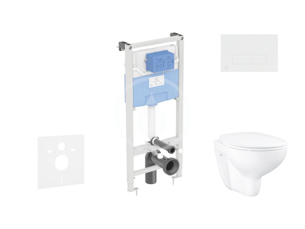 IDEAL STANDARD ProSys Set předstěnové instalace, klozetu a sedátka Bau Ceramic, tlačítka Oleas M2, Rimless, SoftClose, bílá ProSys120M SP61