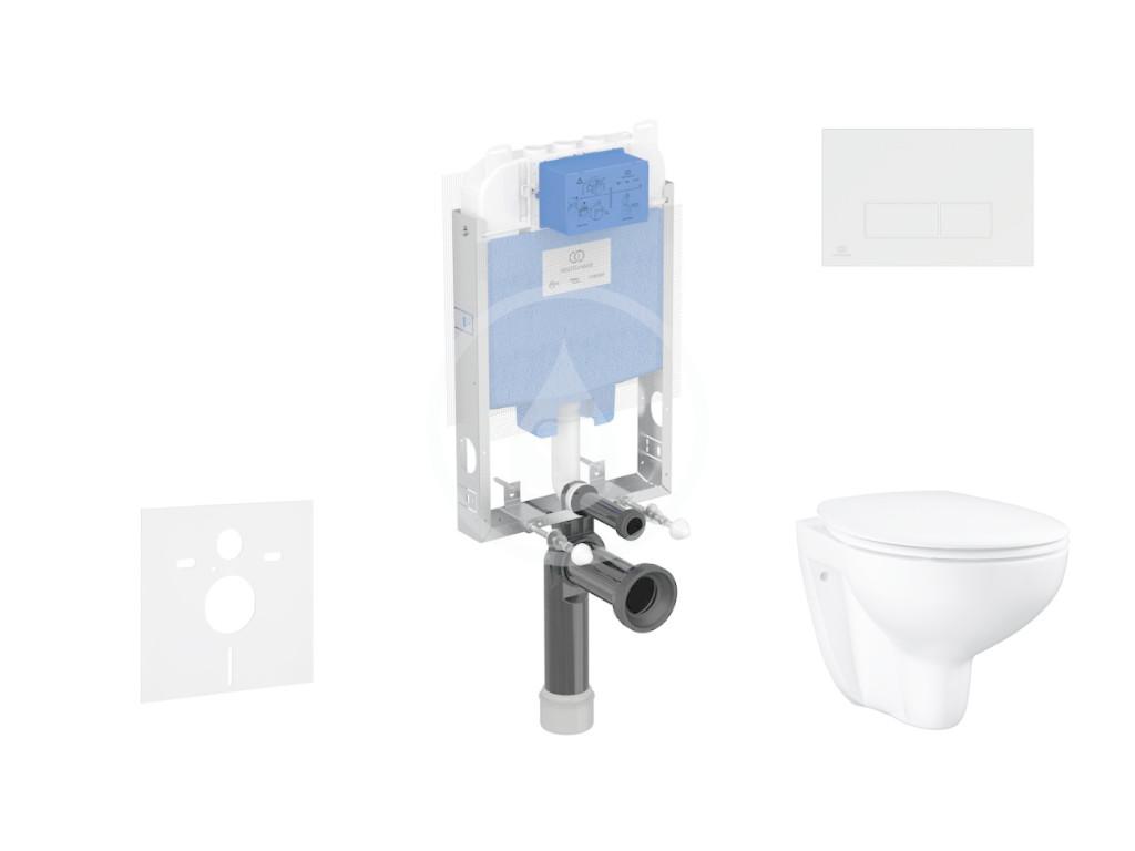 IDEAL STANDARD ProSys Set předstěnové instalace, klozetu a sedátka Bau Ceramic, tlačítka Oleas M2, Rimless, SoftClose, bílá ProSys80M SP133