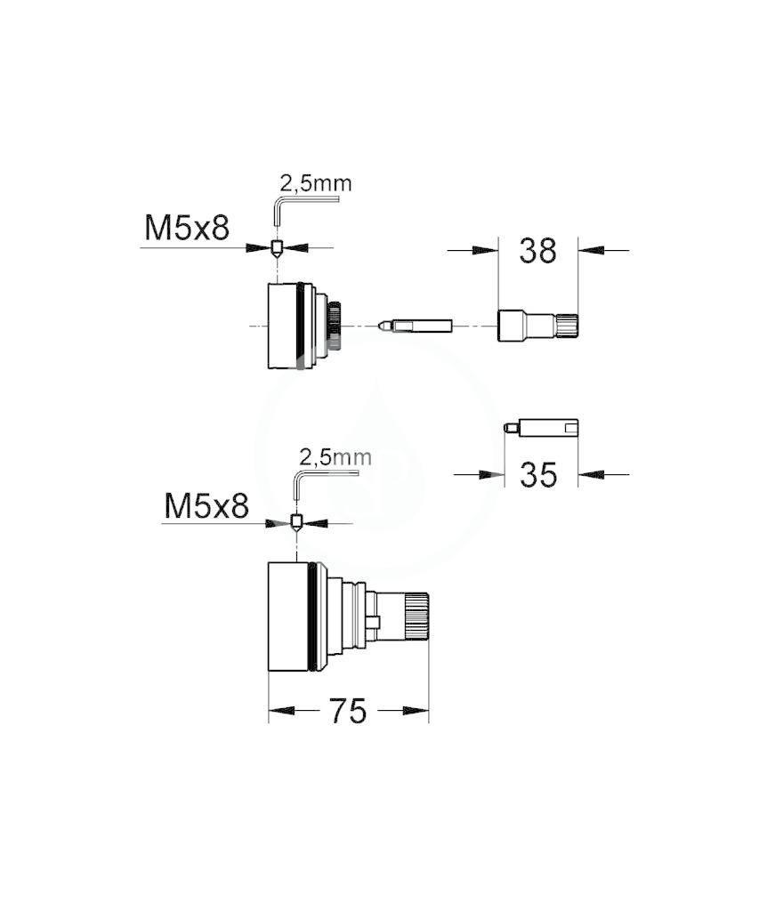GROHE - Příslušenství Prodlužovací set 27,5 mm (47781000)