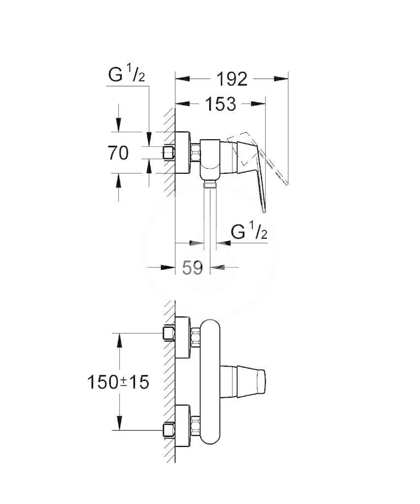 GROHE - Eurosmart Cosmopolitan Páková sprchová baterie, chrom (32837000)