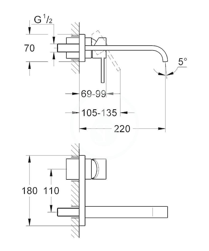 GROHE - Allure Umyvadlová 2-otvorová baterie, chrom (19386000)