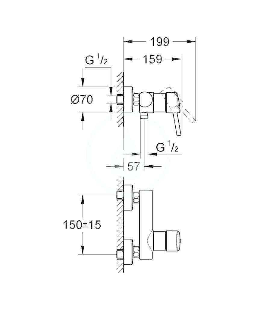 GROHE - Concetto Páková sprchová baterie, chrom (32210001)