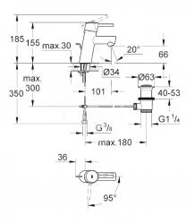 GROHE - Concetto Páková umyvadlová baterie ES, chrom (2338010E), fotografie 4/2