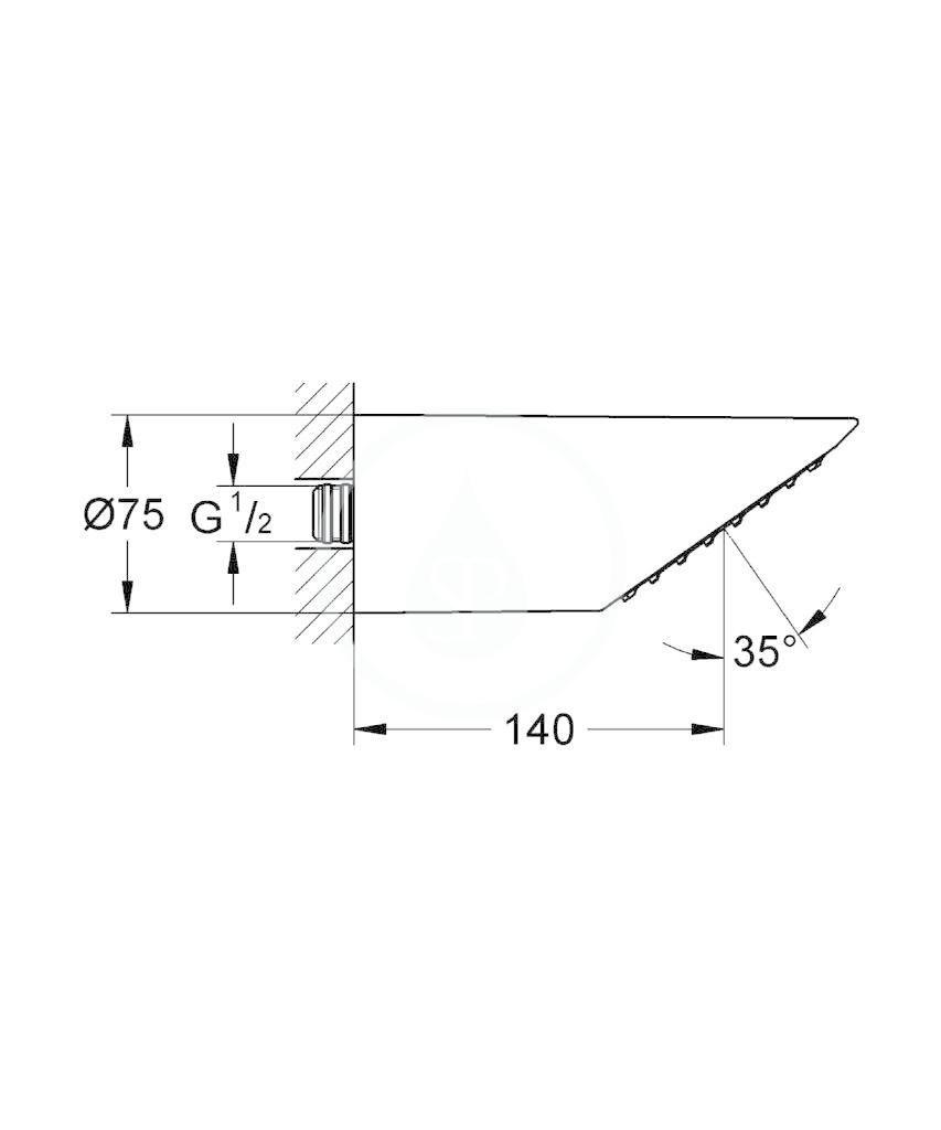 GROHE - Sena Hlavová sprcha 1/2, chrom (28308000)