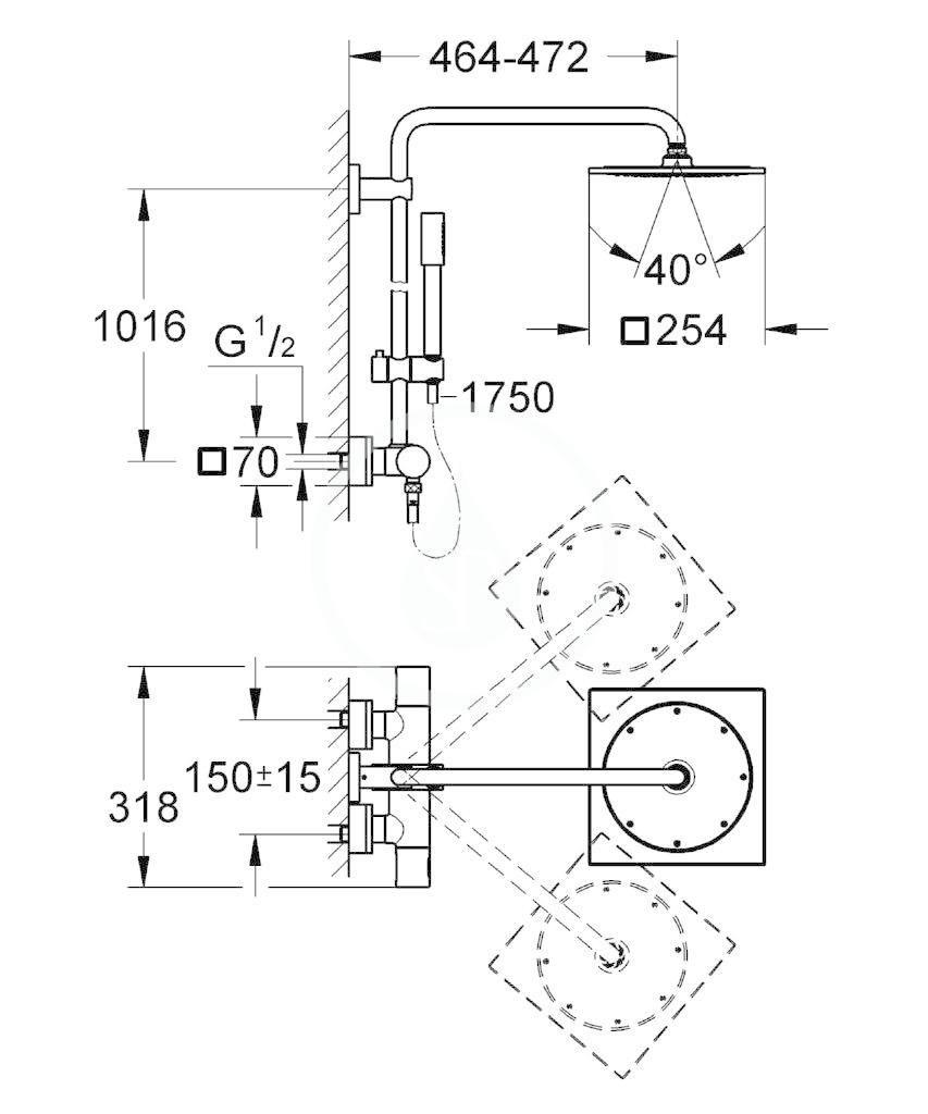 GROHE - Rainshower Sprchový systém, chrom (27469000)