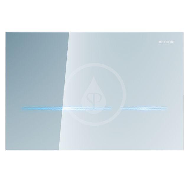 GEBERIT Sigma80 Elektronické ovládací tlačítko Sigma80, bezdotykové, pro 2 množství splachování, skl