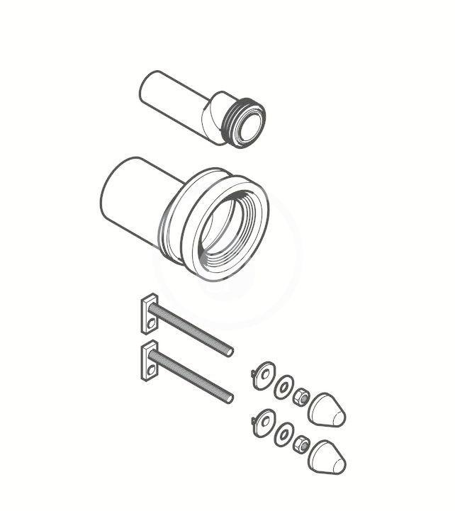 GEBERIT - Příslušenství Připojovací souprava pro WC, excentrická, s připevňovacím materiálem (405.116.00.1)