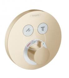 HANSGROHE - Shower Select Termostatická baterie pod omítku pro 2 spotřebiče, kartáčovaný bronz (15743140)
