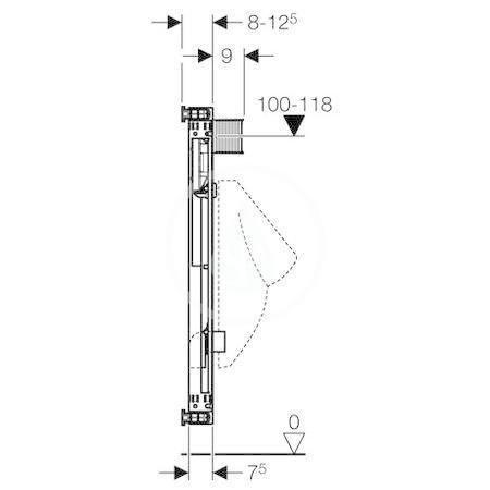 GEBERIT - Kombifix Montážní prvek pro pisoár, 109–127 cm, univerzální (457.611.00.1)