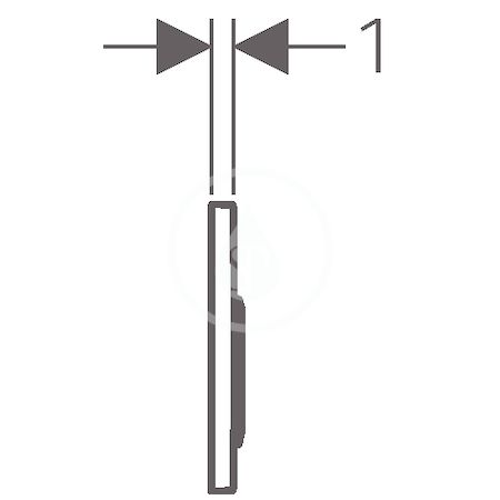 GEBERIT - Omega20 Ovládací tlačítko OMEGA20, matný chrom/lesklý chrom (115.085.KN.1)