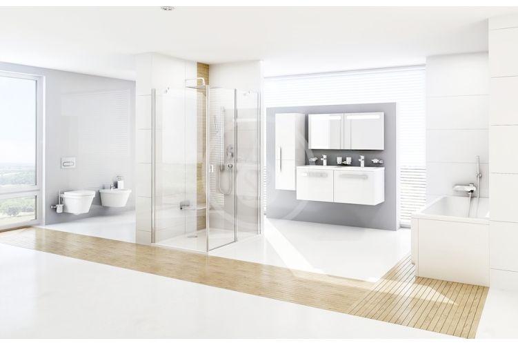RAVAK - Sprchy Hlavová sprcha ABS 983.10, 250 mm, bílá/chrom (X07P347)