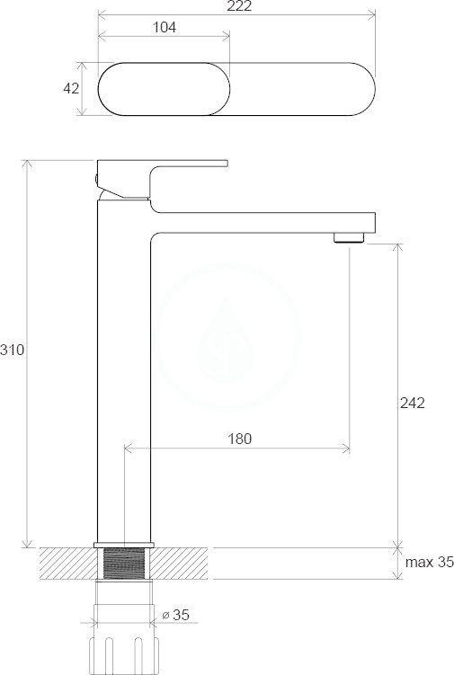 RAVAK - Chrome Umyvadlová baterie CR 015.00  bez výpusti, chrom (X070100)