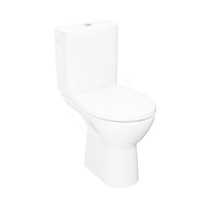 JIKA Lyra plus WC kombi set s nádržkou, vodorovný odpad, Rimless, bílá H8273860002801