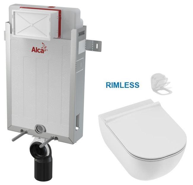 ALCAPLAST Renovmodul předstěnový instalační systém bez tlačítka + WC JIKA MIO + SEDÁTKO SLIM Slowclo