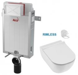 ALCAPLAST  Renovmodul - předstěnový instalační systém bez tlačítka + WC JIKA MIO + SEDÁTKO SLIM Slowclose (AM115/1000 X IO2)