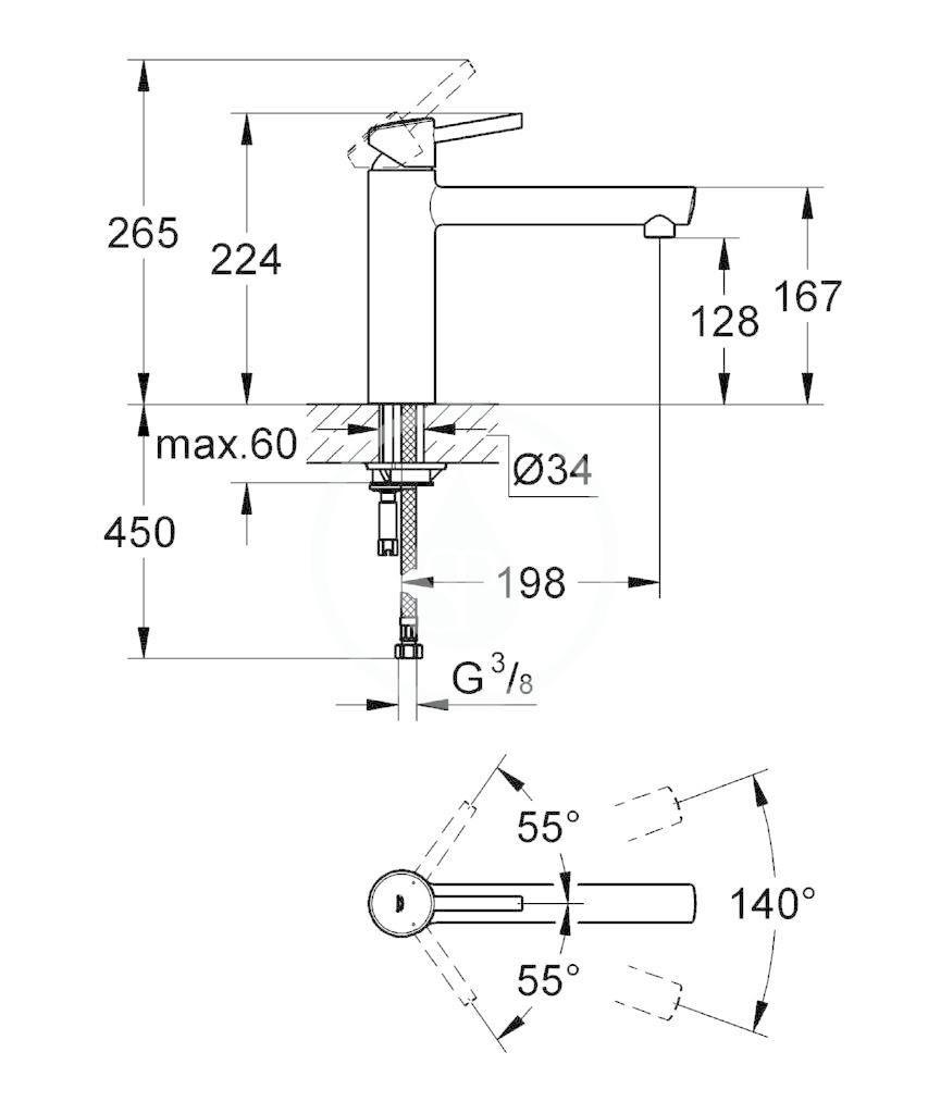 GROHE - Concetto Páková dřezová baterie, chrom (31128001)